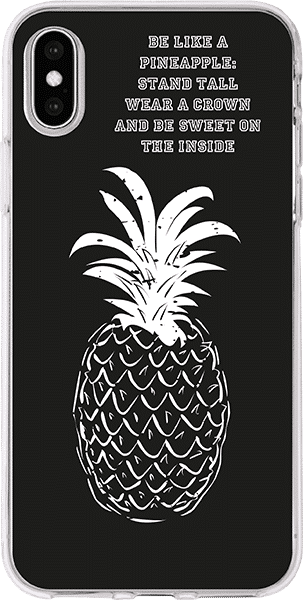 IPhoneXS transparent Trendy pineapple